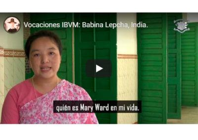 Babina Lepcha, Ibvm de India