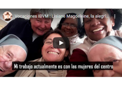 Lisiane Magdeleine, la alegría de la vida religiosa