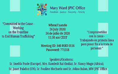 La oficina de JPIC Mary Ward organiza un seminario web sobre Trata